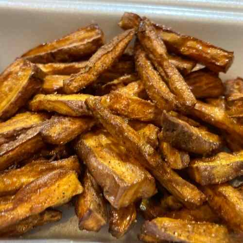 Hand cut Sweet Potato Fries